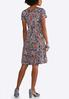 Plus Size Seamed Circle Embellished Dress alternate view