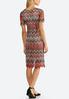 Plus Size Lacy Chevron Midi Dress alternate view