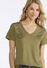 Plus Size Embellished Shoulder Tee alternate view