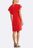 Plus Size Solid Flutter Sleeve Sheath Dress alternate view