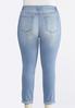 Plus Size Foil Dot Distressed Ankle Jeans alternate view