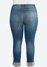Plus Size Shape Enhancing Ankle Jeans alternate view