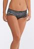 Plus Size Heather Gray And Rose Panty Set alternate view
