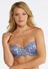 Plus Size Embroidered Convertible Bra Set alternate view