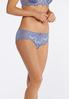 Plus Size Embroidered Blue Ivory Panty Set alternate view
