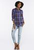 Navy Plaid Button Down Shirt alternate view