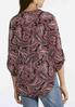 Plus Size Paisley Popover Top alternate view