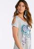 Plus Size Dream Catcher Cold Shoulder Tee alternate view
