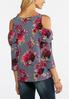 Fuchsia Floral Cold Shoulder Top alternate view