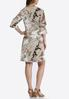 Neutral Paisley Bell Sleeve Dress alternate view