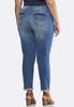 Plus Size Relaxed Girlfriend Ankle Jeans alternate view