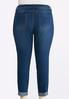 Plus Size Cuffed Raw Edge Skinny Jeans alternate view
