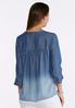 Plus Size Chambray Pintuck Poet Top alternate view