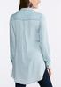 Plus Size Floral Embroidered Chambray Shirt alternate view