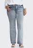 Plus Size Rhinestone Pocket Bootcut Jeans alternate view