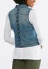Plus Size Laced Back Denim Vest alternate view