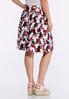 Pleated Chevron Floral Skirt alternate view