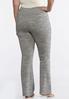 Plus Size Space Dye Knit Pants alternate view