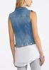 Plus Size Light Wash Denim Vest alternate view