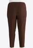 Plus Size Pull- On Solid Slim Pants alternate view