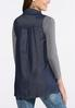 Plus Size Chambray Waterfall Vest alternate view