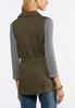 Plus Size Cinched Waist Utility Vest alternate view