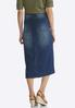 Plus Size Denim Multi Panel Midi Skirt alternate view