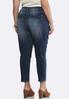 Plus Size Dark Wash Skinny Jeans alternate view