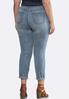 Plus Size Pearl Embellished Jeans alternate view