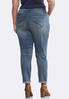 Plus Size Distressed Dark Backing Jeans alternate view