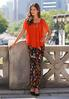 Floral Stretch Knit Maxi Skirt alternate view