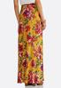 Golden Floral Maxi Skirt alternate view