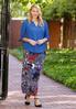 Plus Size Textured Medallion Maxi Skirt alternate view