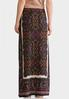 Plus Size Rich Mixed Print Maxi Skirt alternate view