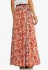 Plus Size Floral Paisley Maxi Skirt alternate view