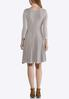 Plus Size Ribbed Fit And Flare Dress alternate view