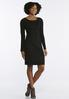 Plus Size Lace Up Trim Sweater Dress alternate view
