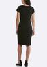 Plus Size Black Tee Shirt Dress alternate view