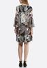 Plus Size Fall Paisley Fit And Flare Dress alternate view
