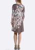 Plus Size Lavender Floral Swing Dress alternate view