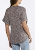 Plus Size Marled Rolled Cuff Top alternate view