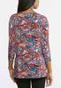 Bright Paisley Dolman Top alternate view