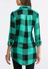 Green Plaid Boyfriend Tunic alternate view