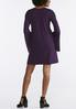 Plus Size Angled Bell Sleeve Swing Dress alternate view