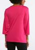 Plus Size Pearl Embellished Ponte Top alternate view