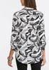 Plus Size Black And White Pullover Top alternate view