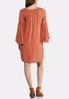 Crochet Trim Bell Sleeve Dress alternate view