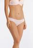 Plus Size Pink And Gray Lace Panty Set alternate view