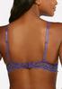 Plus Size Purple Ivory Lace Bra Set alternate view