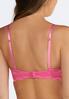Plus Size Pink And Black Convertible Bra Set alternate view